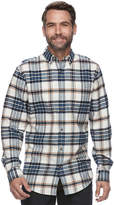 Croft & Barrow Big & Tall True Comfort Plaid Classic-Fit Flannel Button-Down Shirt