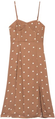 Dee Elly Polka Print Slip Dress