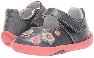 pediped Flora Grip n Go (Toddler) (Pewter) Girl's Shoes