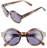 Derek Lam Women's 'Luna' 47Mm Round Sunglasses - Black Brown