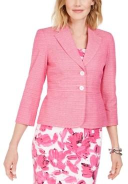 Kasper Cross-Dyed Tweed Blazer