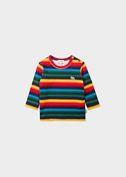 Babies Multi-Coloured Stripe 'Zebra' Long-Sleeve T-Shirt