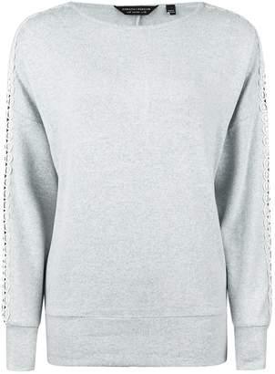 Dorothy Perkins Womens Grey Marl Lace Insert Jumper, Grey