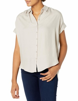 Downeast Women's Gathered Shoulder Top Blouse