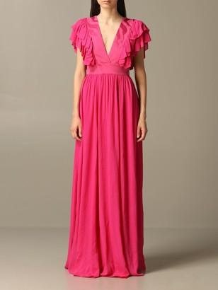 Just Cavalli Dress Long Dress With Ruffles