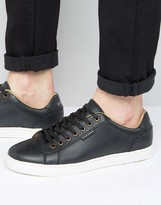 Ben Sherman Tredegar Trainers Black Leather