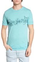 RVCA Men's Sage Stripe Floral Graphic T-Shirt