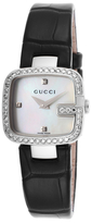 Square Stainless Steel & Diamond Watch, 24mm