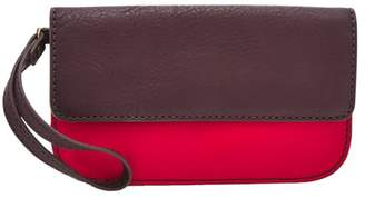 Fossil Sofia Phone Wristlet Wallet Brick Red