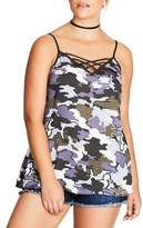 City Chic Plus Size Women's Bon Fire Camisole