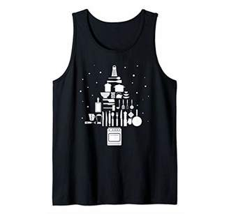 Chef Cook Christmas Tree Cooking Tank Top