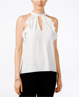 XOXO Juniors' Ruffle-Trim Racerback Tank Blouse