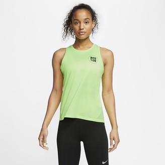 Nike Women's Running Tank Miler Boston