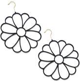 Joy Mangano JOY Huggable Hangers 2-pack Fashion Flower Accessory Hangers - Brass