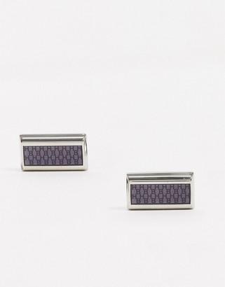 HUGO BOSS laine cufflinks in grey