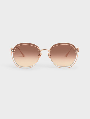 Charles & Keith Cut-Out Butterfly Sunglasses