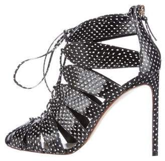 Francesco Russo Snakeskin Caged Sandals w/ Tags