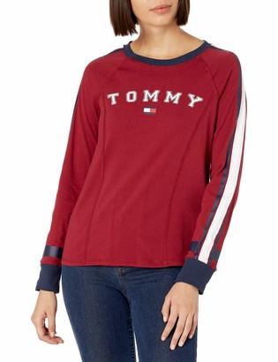 Tommy Hilfiger Women's Long Sleeve Crew Neck Logo Tee