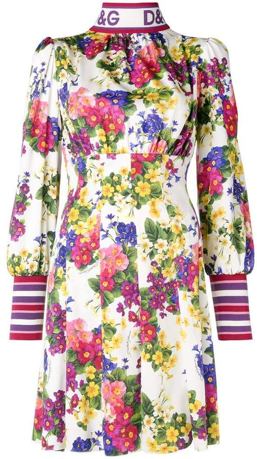 Dolce & Gabbana floral long-sleeve dress
