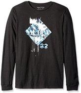 Nautica Men's Diamond Graphic Long Sleeve T-Shirt