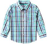 Joe Fresh Baby Boys' Check Shirt, Aqua (Size 18-24)
