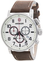 Wenger Attitude Luminous Dial Chronograph Watch - 43mm, Leather Strap