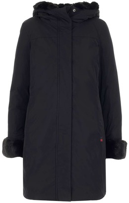 Woolrich Faux Fur Trimmed Hooded Coat
