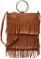 Pink Haley Macie Faux Leather Fringe Crossbody Tote
