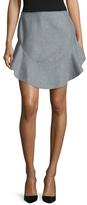 Finders Keepers Seidler Wool Peplum Mini Skirt