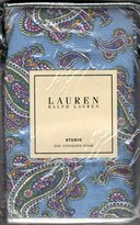 Ralph Lauren by Ralph Studio Oceanside Blue Paisley STANDARD Pillow Sham