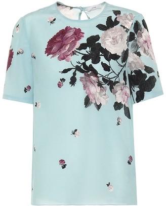 Erdem Armilla floral silk top