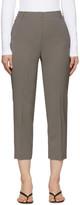 Tibi Grey Wool Taylor Trousers