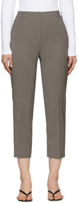 Tibi Grey Wool Taylor Trousers