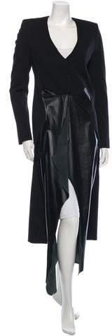 Thierry Mugler Long Wool Coat w/ Tags