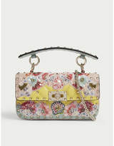 Valentino Studded floral leather clutch