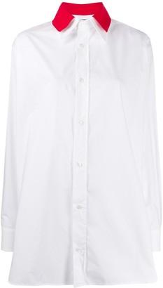 Plan C Contrasting Collared Shirt