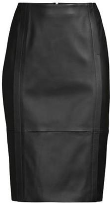HUGO BOSS Sepassa Leather Pencil Skirt