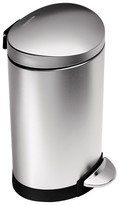 Simplehuman studio 6 L Brushed Stainless Steel Semi-Round Step Trash Can