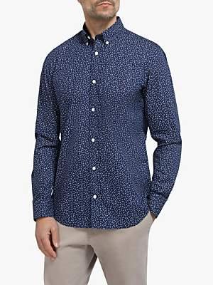 Eden Park Dot Print Slim Fit Shirt, Navy