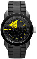 Diesel Men's Black and Yellow Silicone Watch