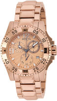 Invicta Excursion Womens Rose-Tone Stainless Steel Chronograph Bracelet Watch