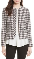 Helene Berman Women's Fringe Trim Houndstooth Jacket