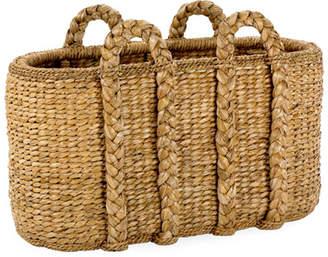 Mainly Baskets Large Oval Sweater Weave Log Basket