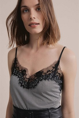 Witchery Check Lace Camisole