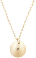 Anna Bee Circle Initial Necklace