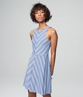 Prince & Fox Striped High Neck Fit & Flare Dress