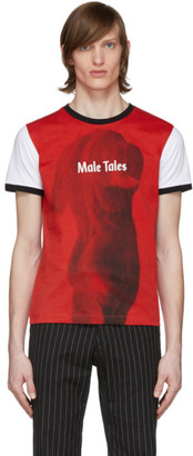 Paco Rabanne Red and White Peter Saville Edition Male Tales T-Shirt
