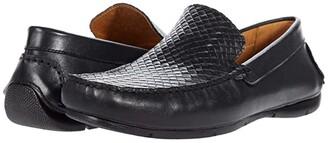 Massimo Matteo Woven Vamp Driver (Black) Men's Shoes