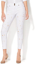 New York & Co. Soho Jeans - Painted High-Waist Ankle Legging - White
