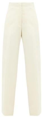 Jil Sander Nicholas High-rise Cotton Wide-leg Trousers - Cream